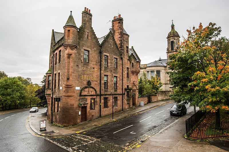 Street view of Cathedral House hotel in Glasgow